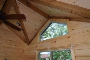 Gable glass and Shed Dormers - Green River Log Cabins