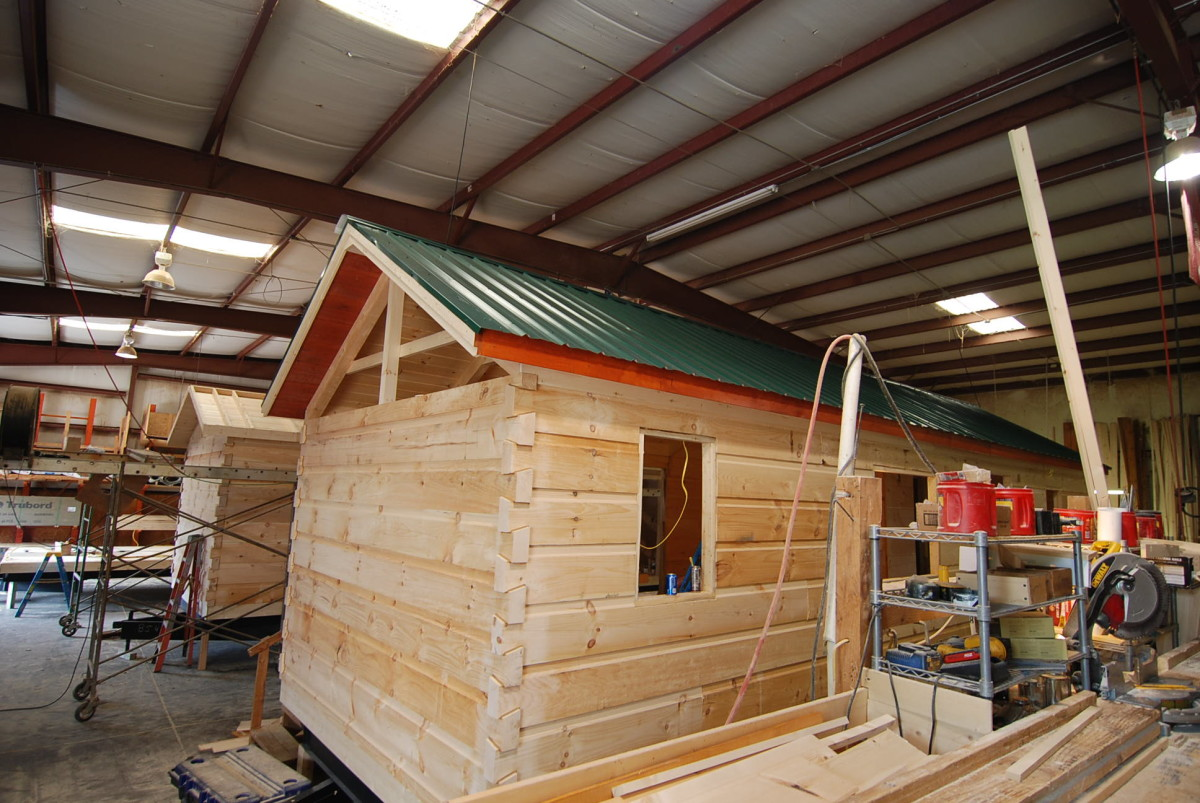 cabin in welcome log green colorado to week river kits time build progress three cabins